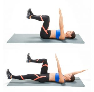 Dead bug exercise for core stability